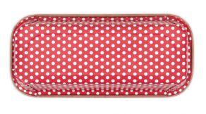 punavalkoinen paperinen paistovuoka