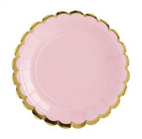 Pastelli pahvilautanen pieni vaaleanpunainen 6kpl/pkt