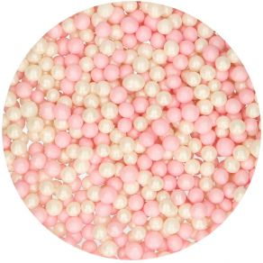Pehmeät kuulat vaaleanpunavalkoiset 60g