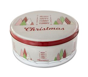 Peltinen pikkuleipärasia Yummy Christmas 16,5cm
