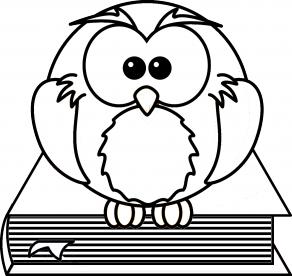 Painolaatta pöllö kirjan päällä omalla tekstillä