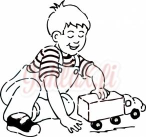 Painolaatta poika leikkii omalla tekstillä