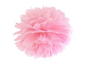Pompom paperikoriste vaaleanpunainen 25cm