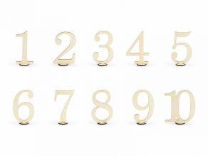 Puiset pöytänumerot 10,5cm
