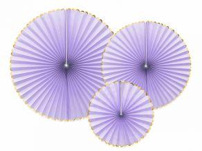 Paperi rosetit 3kpl/pkt vaalea lila