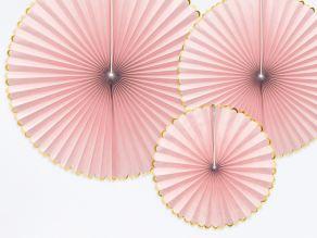 Paperi rosetit 3kpl, vaaleanpuna-kulta