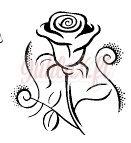 Painolaatta ruusu pysty omalla tekstillä