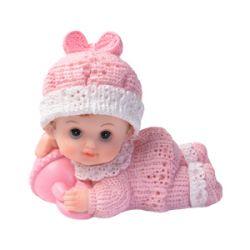Kakkukoriste ryömivä vauva helistimellä vaaleanpunainen