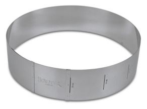 Säädettävä pyöreä reunavuoka 18-30cm