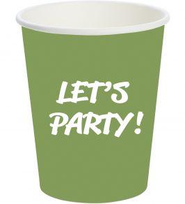 Let's Party shottimuki 20kpl/pkt vihreä