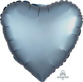 Satiinisiniharmaa sydän, tavallinen foliopallo