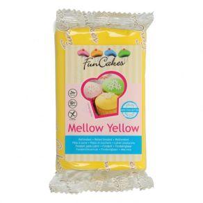 Sokerimassa keltainen 250g, vaniljan maku FunCakes