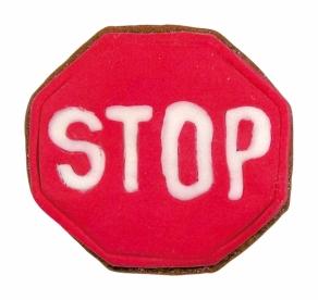 STOP liikennemerkki pikkuleipämuotti