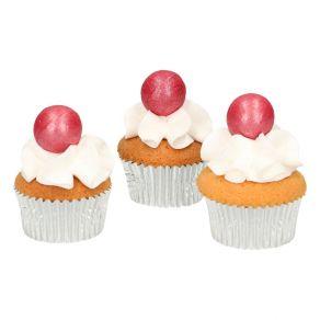 Fun Cakes viininpunainen suklaapallo 8kpl/pkt
