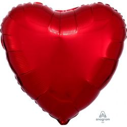 Punainen sydän foliopallo