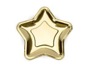 Tähti muotolautanen kulta 23cm 6kpl/pkt