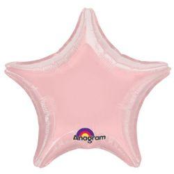 Tähti foliopallo vaaleanpunainen