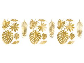 kultaiset lehtikoristeet