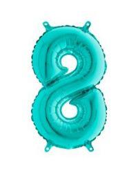 Numero 8, puhallettava turkoosi foliopallo