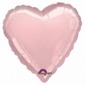 Vaaleanpunainen sydän foliopallo