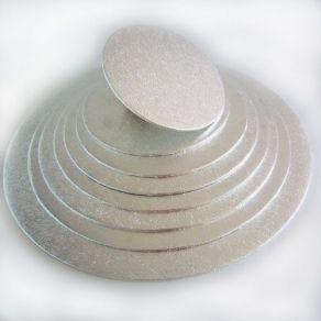 Hopeinen 4mm kakkualusta Ø 203mm