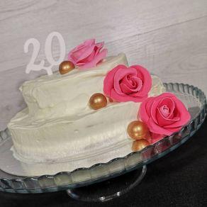 20 kakkukoristetikku, valkoinen