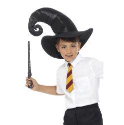 Velhon asustesetti, hattu, taikasauva ja kravatti