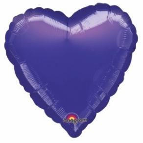 Violetti sydän foliopallo