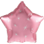 Vaaleanpunainen tähti foliopallo hopeakoristuksella